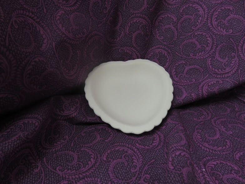 Heart Shaped Soap Dish Unpainted Ceramic Bisque  - product images