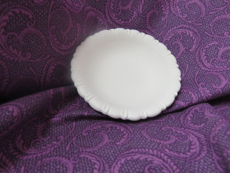 Round Shaped Soap Dish Unpainted Ceramic Bisque  - product images