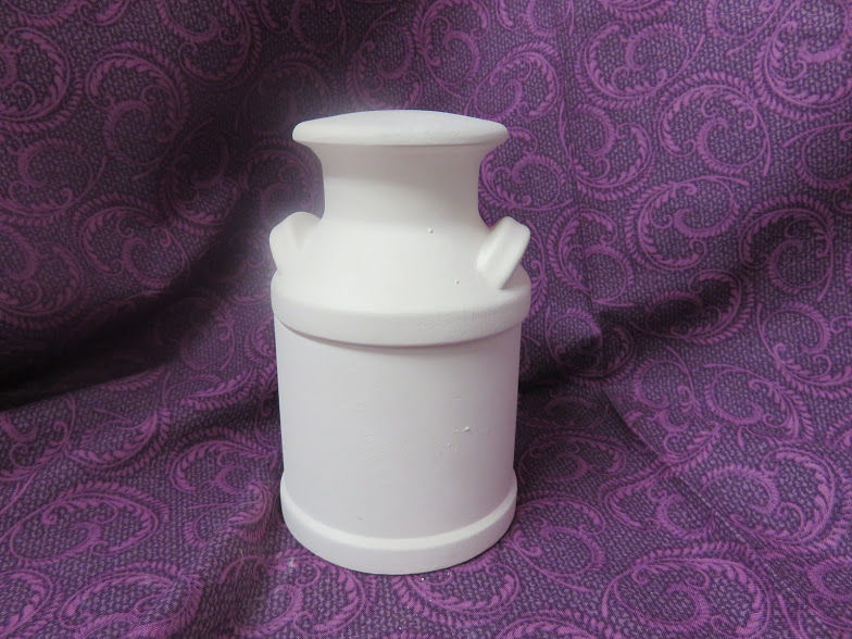 Milk Can Sugar Bowl Unfinished Ceramic Bisque ready to paint - product image