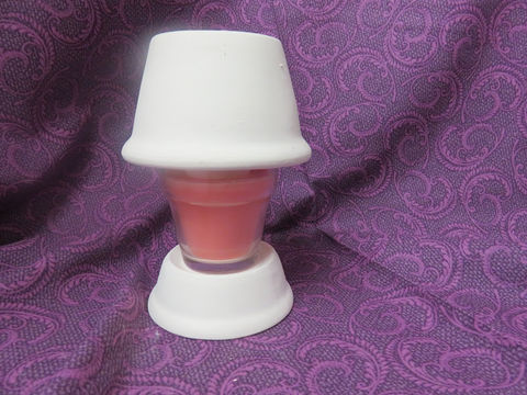 Candle,Shade,and,Base,for,Votive,Candles,Ceramic,Bisque,Ready,to,Paint,Candle Shade and Base for Votive Candles , Ceramic Bisque Ready to Paint,  ceramic bisque,ready to paint,ceramics, bisque,kg krafts