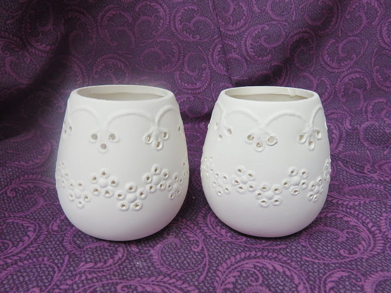 Victorian Votive Candle Holders  Ceramic Bisque Ready to Paint - product images