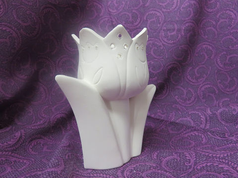 Tulip,Votive,Candle,Holders,Ceramic,Bisque,Ready,to,Paint,tulip Votive Candle Holders , Ceramic Bisque Ready to Paint,  ceramic bisque,ready to paint,ceramics, bisque,kg krafts