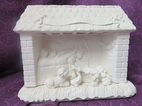 Animal,Nativity,Set,in,Ready,to,Paint,Ceramic,Bisque,ceramic bisque,ready to paint,ceramics, bisque,kg krafts,animal Nativity set