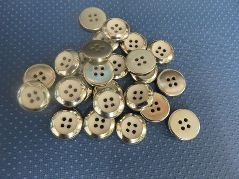 Silver,with,Blush,Center,Four,Hole,Buttons,Package,of,50,pieces,buttons, kg krafts,kraft supplies, craft buttons,sewing notions,sewing,vintage