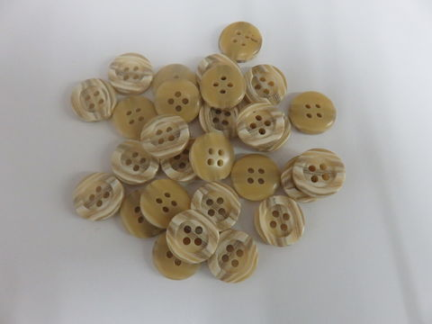 Tan,Striped,Four,Hole,Buttons,Package,of,50,pieces,buttons, kg krafts,kraft supplies, craft buttons,sewing notions,sewing,vintage