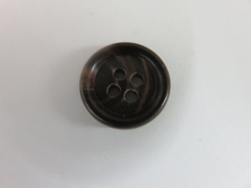 Blue Striped Four Hole Buttons Package of 50 pieces - product image
