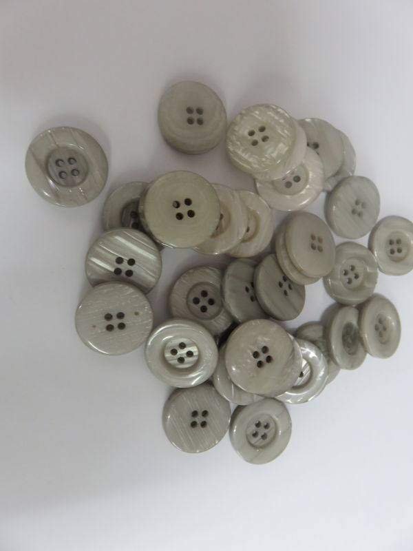 Light Gray Four Hole Buttons 50 pc package - product image