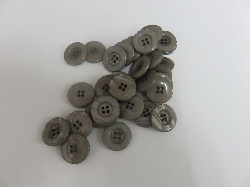 Gray Four Hole Buttons 50 pc package - product image