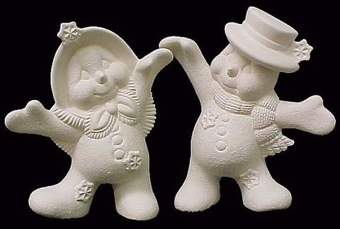 Dancing,Snow,Couple,Ready,to,Paint,Ceramic,Bisque,dancing snow couple,ceramic bisque,ready to paint,ceramics, bisque,kg krafts,snowman