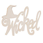 Laser,Cut,Wicked,Wood,Cutout,-,Unfinished,5,x,3.25,inches,wicked,trick or treat, laser cutout,halloween,words,cutout,kg krafts,ready to paint,darice,pine cutout