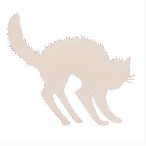 Darice®,Laser,Cut,Wood,Spooky,Cat,-,Unfinished,cat.wood,cutout,pumpkin,wood pumpkin,kg krafts,ready to paint,darice,pine cutout