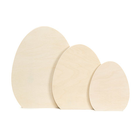 Unfinished Wood Eggs: 3 pack - product images