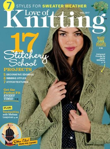 Love,of,Knitting,Fall,2017,Love of Knitting, fall 2017, summer Knits, , designs, hats, shells, scarves, vest, cardigans, magazine, crochet, pattern, instruction