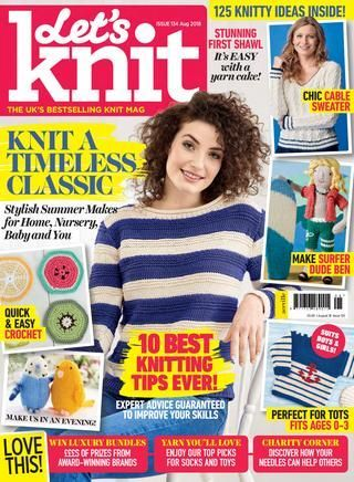 Let's,Knit,Issue,134,August,2018,Let's Knit Issue 134 August 2018,knit,crochet,kg krafts,magazine,patterns