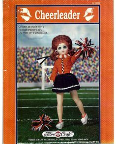 Cheerleader,Fashion,Classics,from,Fibre,Craft,Cheerleader Fashion Classics from Fibre Craft,15inch  fashion doll,kg krafts,crochet patterns.bed doll
