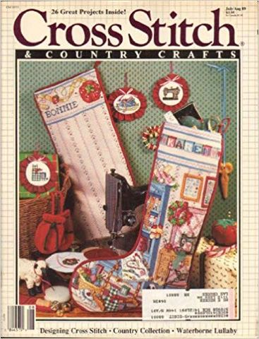 Cross,Stitch,and,Country,Crafts,July/August,89,Cross Stitch and Country Crafts July/August 89, cross stitch, classic cross stitch, needle arts,kg krafts,needle arts