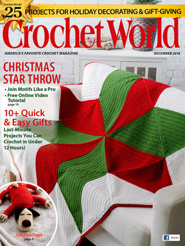 Crochet,World,December,2018,Crochet World December 2018,kg krafts,craft supplies,crochet,magazine,patterns
