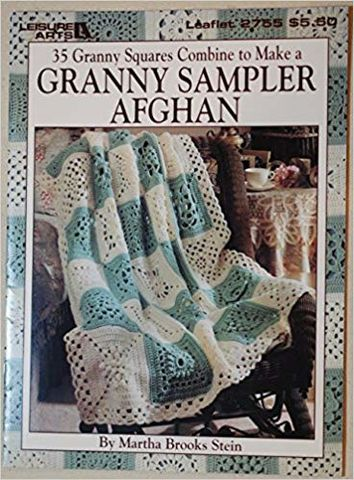 35,Granny,Square,Sampler,Afghan,by,Martha,Brooks,Stein,35 Granny Square Granny Sampler Afghan by Martha Brooks Stein,knitting, pattern, crochet, granny, squares, afghan, leisure arts, kg krafts