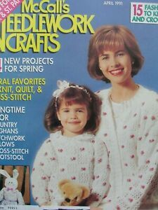 McCall's,Needlework,and,Crafts,April,1991,McCall's Needlework and Crafts April 1991,kg krafts,knit, patterns,crochet
