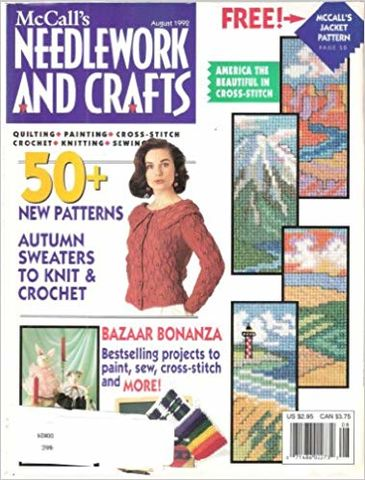 McCall's,Needlework,and,Crafts,August,1992,McCall's Needlework and Crafts August 1992,kg krafts,knit, patterns,crochet