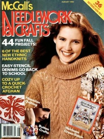 McCall's,Needlework,and,Crafts,August,1990,McCall's Needlework and Crafts august 1990,kg krafts,knit, patterns,crochet
