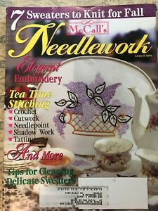 McCall's,Needlework,August,1994,McCall's Needlework, August 1994,kg krafts,knit, patterns,crochet