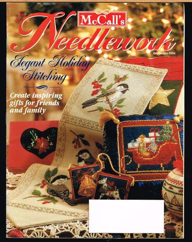 McCall's,Needlework,December,1994,McCall's Needlework, December 1994,kg krafts,knit, patterns,crochet