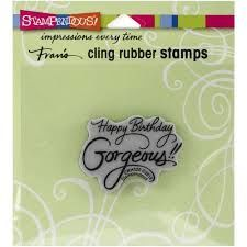 Stampendous,Cling,Rubber,Stamps,Happy,Birthday,Gorgeous,Stampendous , Rubber ,Stamps ,Happy Birthday Gorgeous,kg krafts,scrapbook, supplies,craft supplies