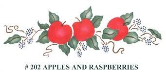 Beverly,Designs,Apples,and,Raspberries,#202,Beverly Designs ,apples and raspberries 202,stencils,stencilling, painting,kg krafts, beverly decor international
