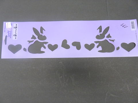 Simply,Stencils,by,Plaid,Bunny,Love,28517,Simply Stencils by Plaid Bunny Love 28517 ,kg krafts,craft supplies,stencils,crafts