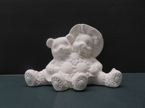 Sunflower,Cuddle,Bears,in,Ready,to,Paint,Ceramic,Bisque,sunflower cuddle bears,ceramic bisque,ready to paint,ceramics, bisque,kg krafts,teddy bears, cuddle bears,clay magic