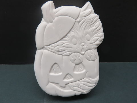 Cat,in,Pumpkin,Box,Ceramic,Bisque,Ready,to,Paint, Pilgrim Cuddle Bears with Apple Basket in Ready to Paint Ceramic Bisque,  ceramic bisque,ready to paint,ceramics, bisque,kg krafts