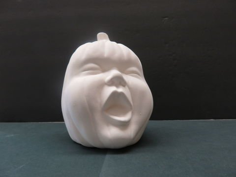 Ceramic,Baby,Yawning,Pumpkin,in,Ready,to,Finish,Bisque,Ceramic Baby yawning Pumpkin in Ready to Finish Bisque,ceramic bisque,kg krafts,ready to paint,pumpkin,halloween,fall