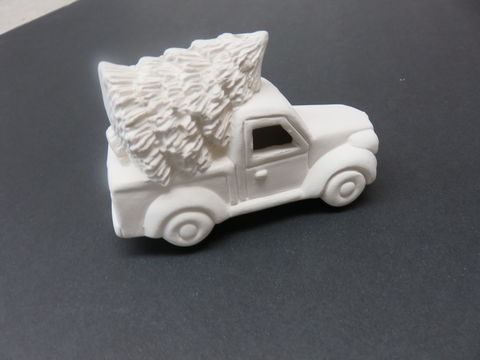 Lit',Truck,with,Tree,Ornament,in,Ready,to,Paint,Ceramic,Bisque,Lit' Truck with Tree Ornament in Ready to Paint Ceramic Bisque,ceramic bisque,ready to paint,ceramics, bisque,kg krafts