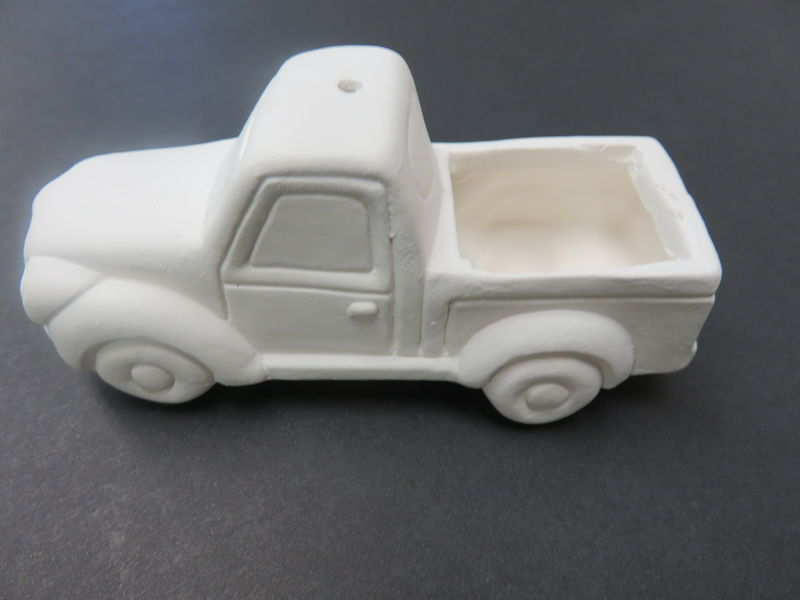 Lit' Truck Tree Ornament in Ready to Paint Ceramic Bisque - product images