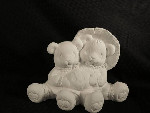 Cuddle,Bears,with,Pumpkins,in,Ready,to,Paint,Ceramic,Bisque,   Cuddle Bears with Pumpkins in Ready to Paint Ceramic Bisque,ceramic bisque,ready to paint,ceramics, bisque,kg krafts,teddy bears, cuddle bears,clay magic