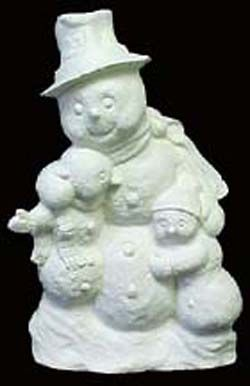 Snow,Dad,and,Kids,Snow Dad and Kids, kg krafts,cermaic bisque,ready to paint,crafts,painting surface