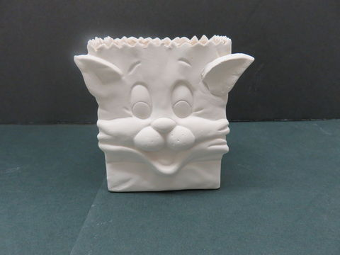 Cat,Bag,in,Ready,to,Paint,Bisque,Cat Bag in Ready to Paint Bisque,  ceramic bisque,ready to paint,ceramics, bisque,kg krafts