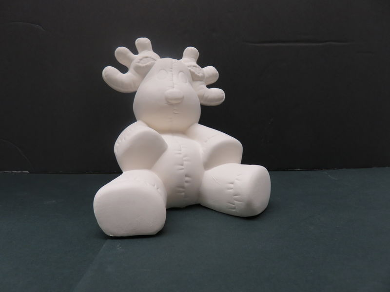 Stuffy Reinder by Kimple Molds in Ready to Paint Bisque - product image