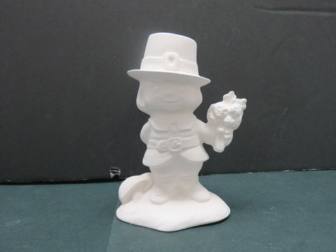 Pilgrim,Boy,with,Flower,Bunch,in,Ready,to,Paint,Ceramic,Bisque, Pilgrim Boy with Flower Bunch in Ready to Paint Ceramic Bisque,ceramic bisque,ready to paint,ceramics, bisque,kg krafts,teddy bears, cuddle bears,clay magic