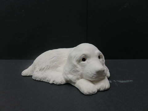 Cocker,Spaniel,Unfinished,Ceramic,Bisque,ready,to,paint,ceramic bisque,ready to paint,ceramics, bisque,kg krafts,labrador,collie,puppy,dog,duncan molds