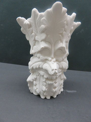 GreenMan,Vase,Unfinished,Ceramic,Bisque,ready,to,paint,Gargoyle Incense Ash Catcher,ceramic bisque,ready to paint,ceramics, bisque,kg krafts
