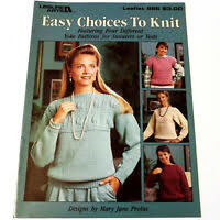 Leisure,Arts,Leaflet,965,Easy,Choices,to,Knit,Leisure Arts Leaflet 965 Easy Choices to Knit, needlework, cross stitch,knit,crochet