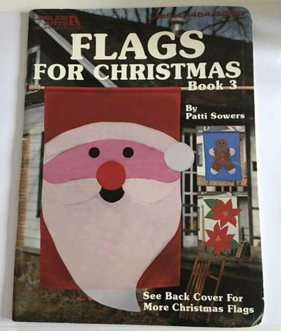 Leisure,Arts,Booklet,1464,Flags,for,Christmas,book,3,Leisure Arts Booklet 1464 Flags for Christmas book 3, needlework, cross stitch,knit,crochet,sewing
