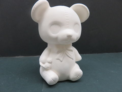 Teddy,Bear,with,Bow,Kimple,Molds,in,Ready,to,Paint,Ceramic,Bisque,Teddy Bear with Bow Kimple Molds  in Ready to Paint Ceramic Bisque,ceramic bisque,ready to paint,ceramics, bisque,kg krafts,teddy bears, cuddle bears,clay magic