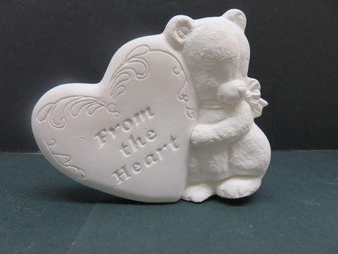 Teddy,Bear,with,Heart,Kimple,Molds,in,Ready,to,Paint,Ceramic,Bisque,Teddy Bear with heart Kimple Molds  in Ready to Paint Ceramic Bisque,ceramic bisque,ready to paint,ceramics, bisque,kg krafts,teddy bears, cuddle bears,clay magic