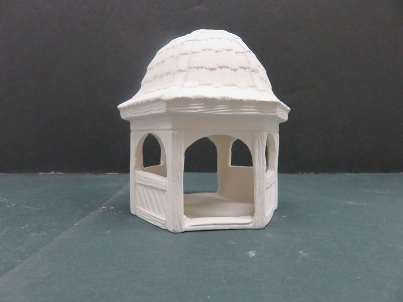 Gazebo VIP Molds in Ready to Paint Ceramic Bisque - product images