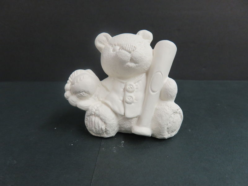 Sports Bear Baseball Gare Molds in Ready to Paint Ceramic Bisque - product images