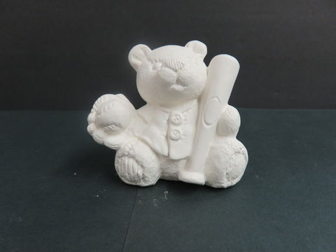 Sports,Bear,Baseball,Gare,Molds,in,Ready,to,Paint,Ceramic,Bisque,calendar bunny, Sports Bear Baseball, gare Molds  in Ready to Paint Ceramic Bisque,ceramic bisque,ready to paint,ceramics, bisque,kg krafts,teddy bears, cuddle bears,clay magic