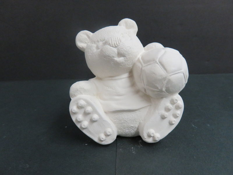 Sports Bear Soccer  Gare Molds in Ready to Paint Ceramic Bisque - product images